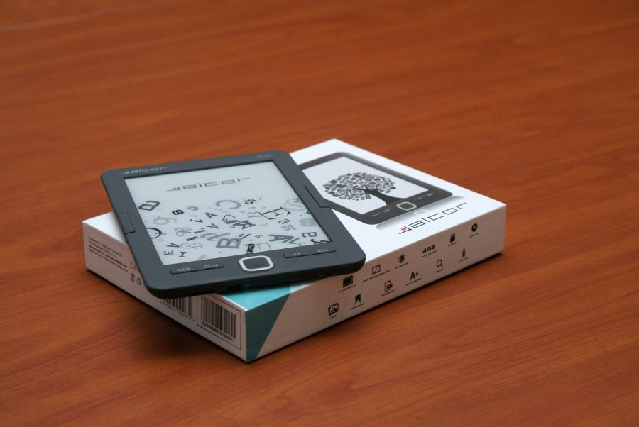 e-book on the table